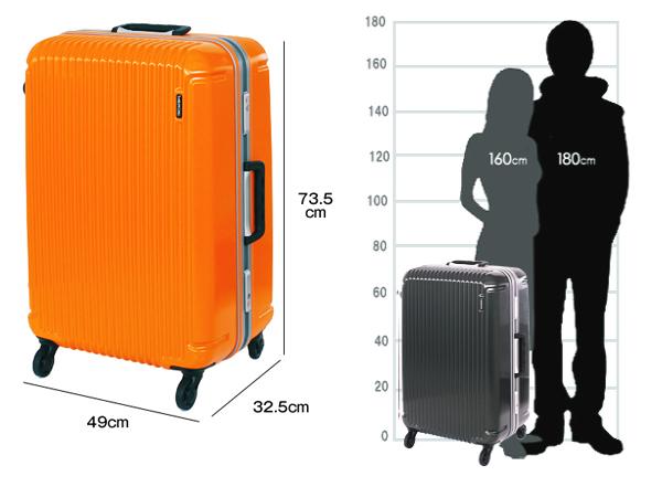 スーツケース大サイズの大きさのイメージ