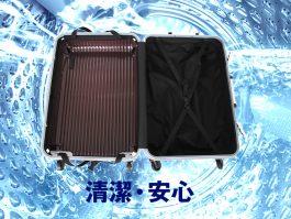 内装を外して洗えるスーツケース