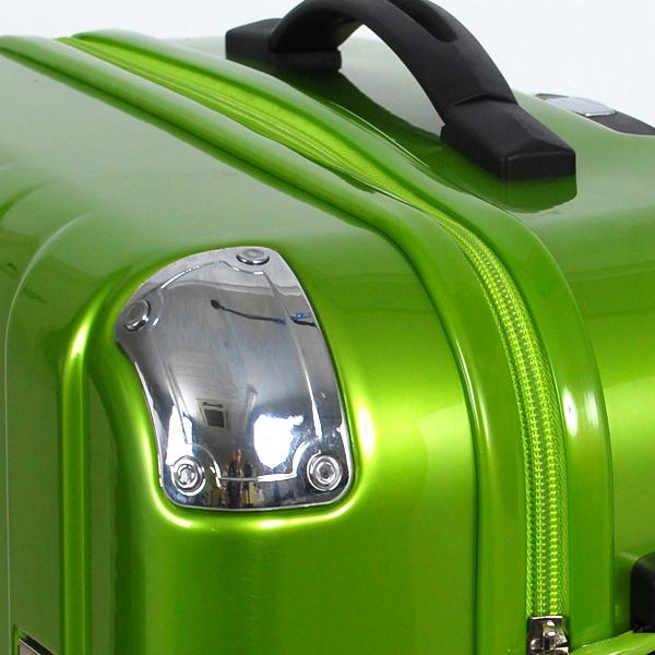 ファスナータイプのスーツケースの画像