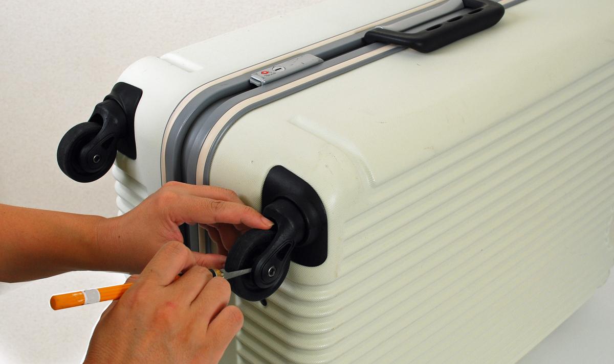 スーツケースのメンテナンス