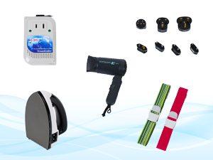 海外旅行 用品 変圧器 プラグ コンセント ヘアドライヤー ポット スーツケースベルト レンタル