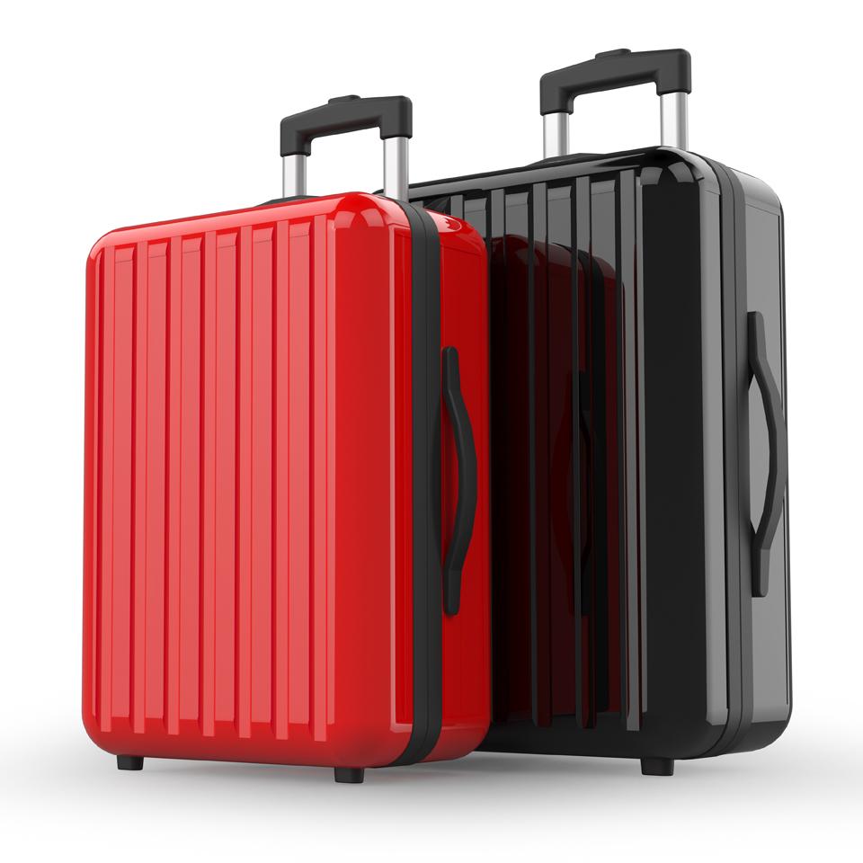 激安スーツケース赤と黒